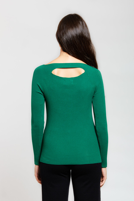 ADAM MAR with Opening Blouse - Geen