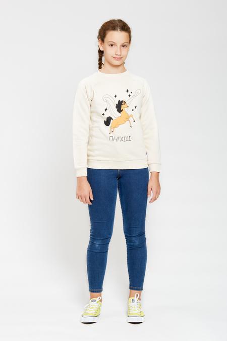 Kids ARTEMIS & APOLLON Mustard Pegasus Beige Sweatshirt