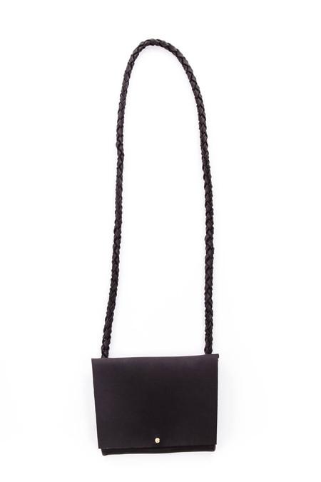 ARA Handbags Smalls Fold Over Shoulder Strap (Black)