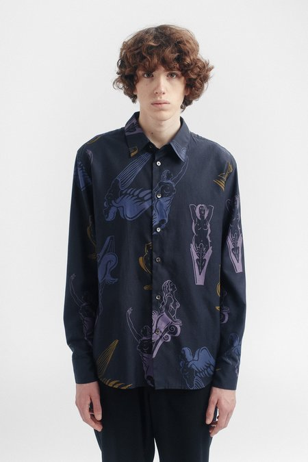A Kind of Guise Flores shirt - navy gallion