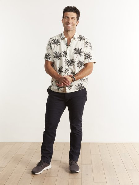 Bsbee Cassidy Shirt - PALM PRINT WHITE SANDS