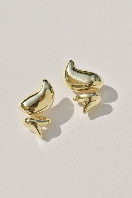 Leigh Miller Dollop Studs - Brass