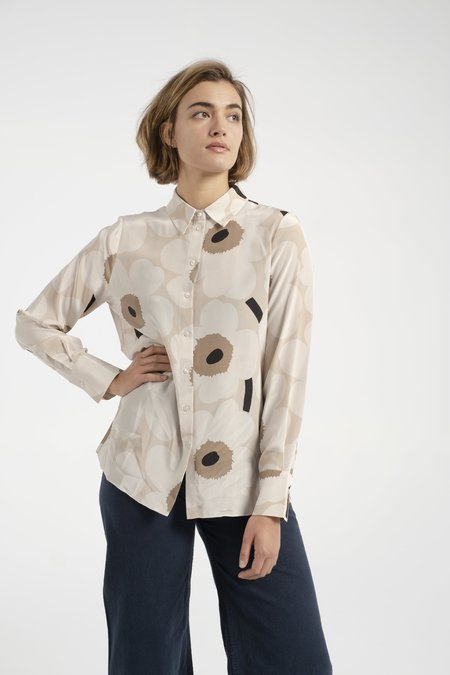 Marimekko Gabro Pieni Unikko shirt - Beige/brown