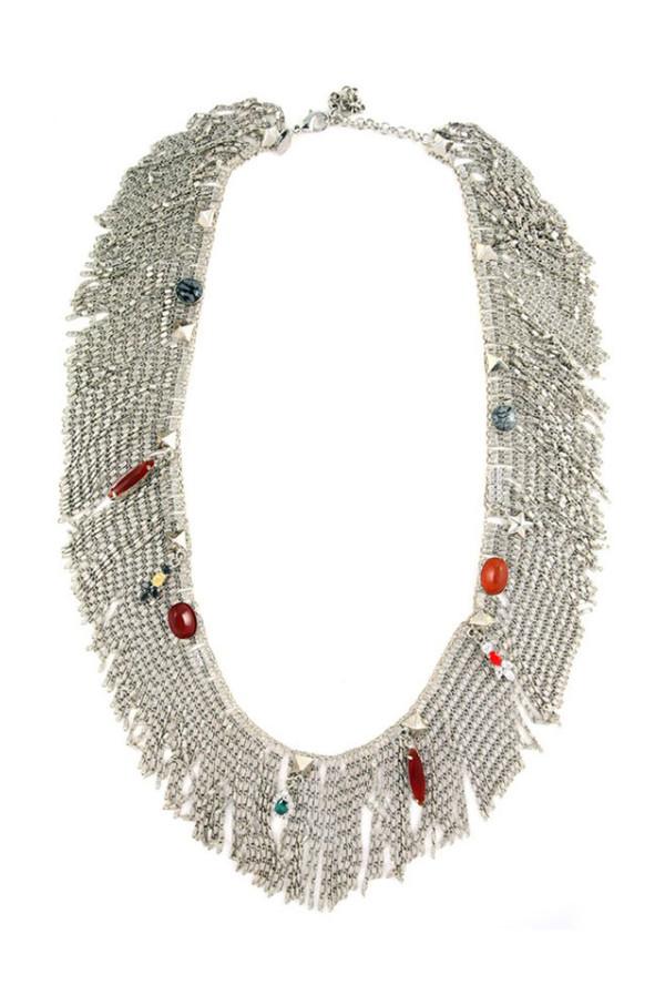 Iosselliani Anubian Jewels Fringe Necklace
