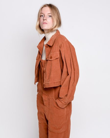 Rita Row Zoe Cropped Jacket - Brown Corduroy