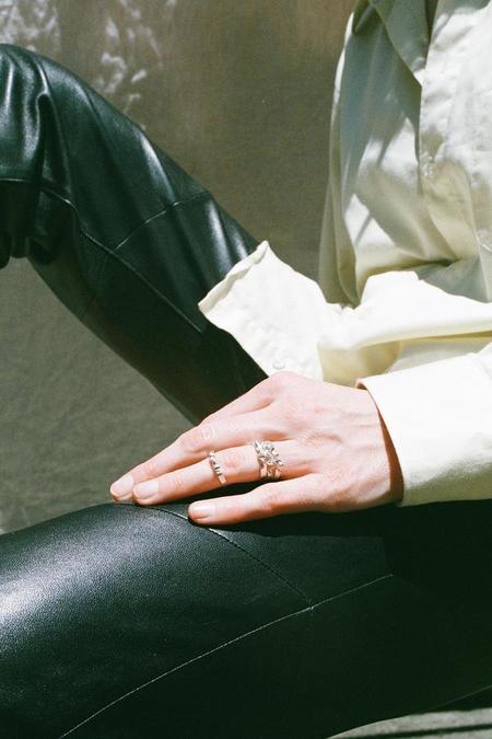 Mars Ribbon Ring - Silver