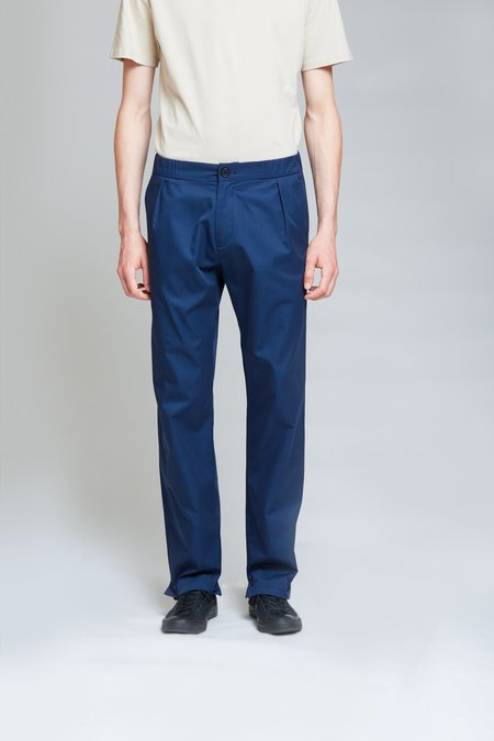 ANT/BODIES Soft Tailored Cotton Trousers - Midnight Blue