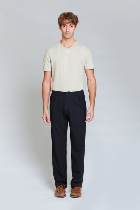 ANT/BODIES Soft Tailored Wool Trousers - Black