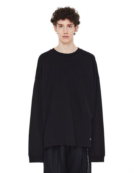 Mastermind WORLD Black Cotton Printed L/S T-shirt