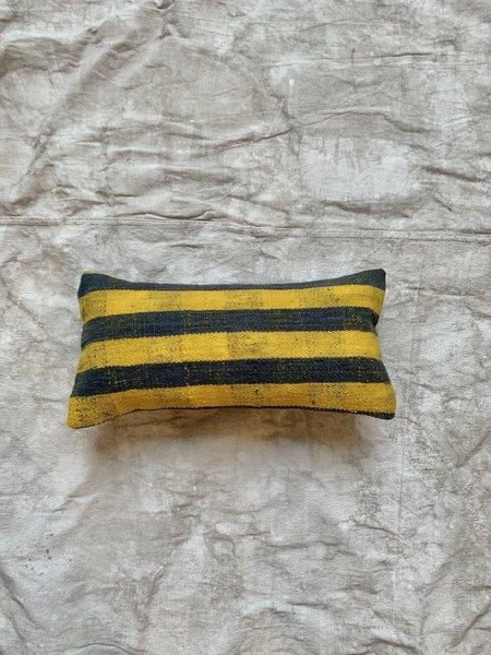 Cuttalossa & Co. Kilim Throw - Yellow/Denim