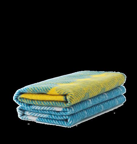 Normann Copenhagen Ekko Throw Blanket - Yellow/Dusty Blue