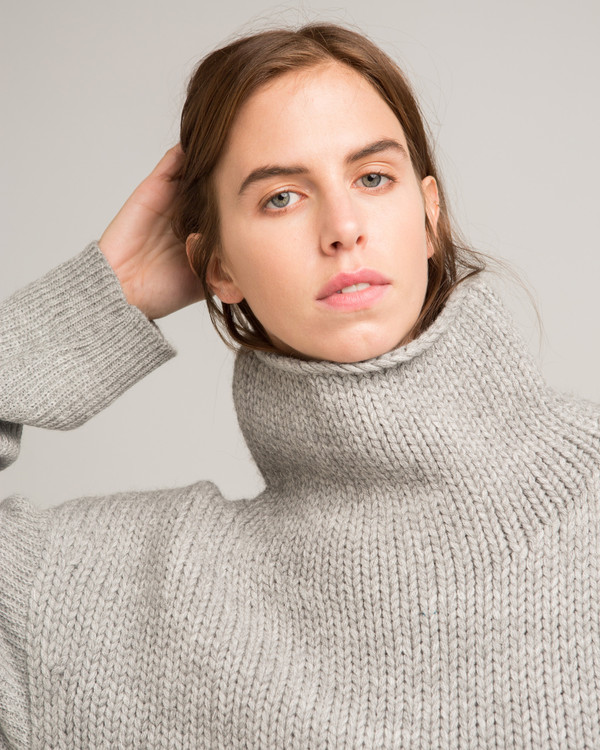 Micaela Greg Funnel Neck Alpaca Sweater