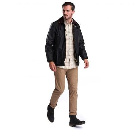 BARBOUR BEDALE® WAX SAGE JACKET - BLACK