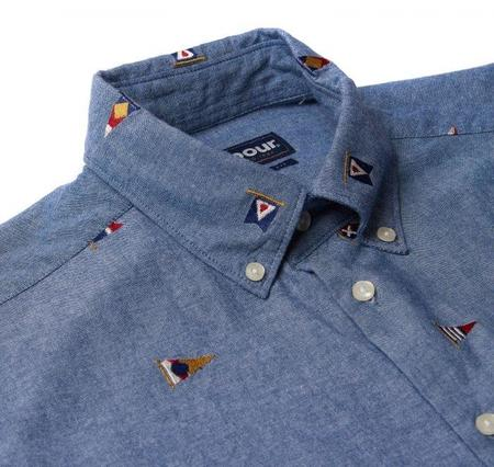 Barbour Chambray Flag Tailored Fit Shirt