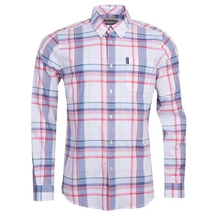 Barbour Madras 4 Tailored Shirt - Sky Blue