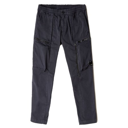 C.P. Company Garment Dyed Stretch Sateen Lens Pocket Track Pants