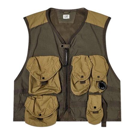 C.P. Company Multi Pocket Vest - Ivy Green