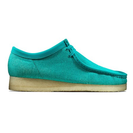 Clarks Originals Wallabee shoes - Teal Textile