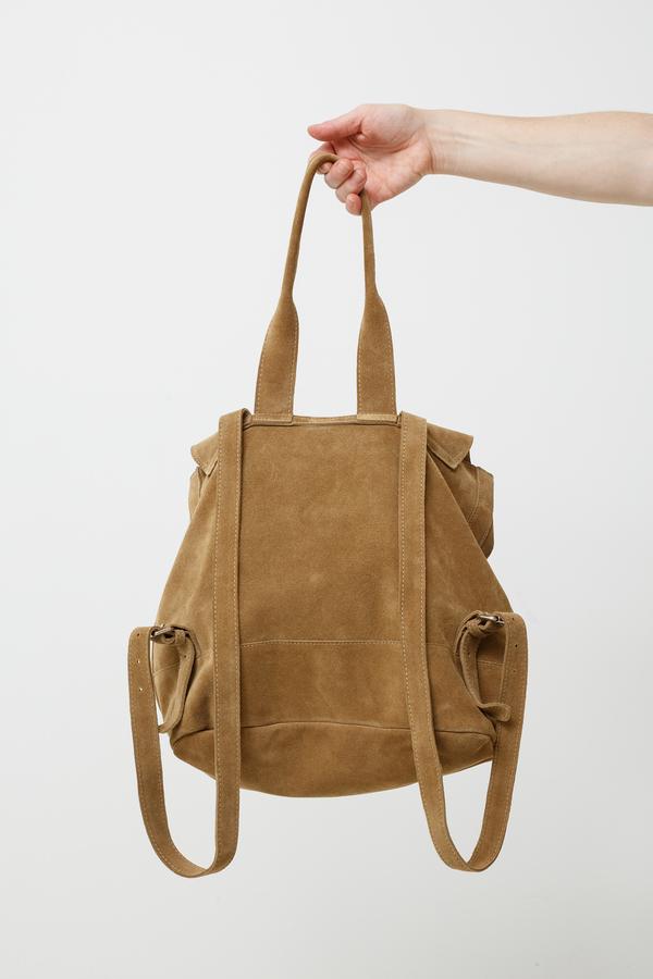 Clyde Room Backpack - golden suede