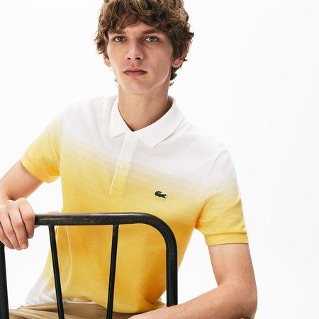 Lacoste Ph5070 UAM Cotton Piquè Regular Fit Polo - Yellow/White