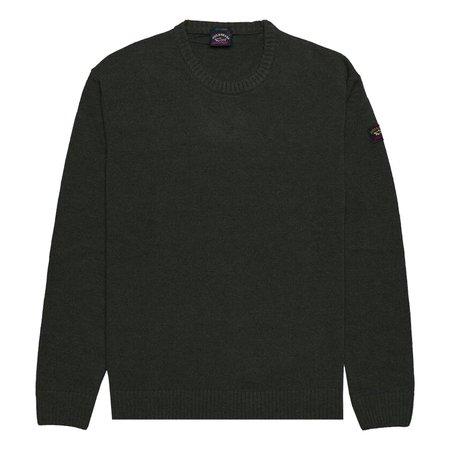 Paul & Shark Classic Round Neck Eco Wool Sweater - Dark Green