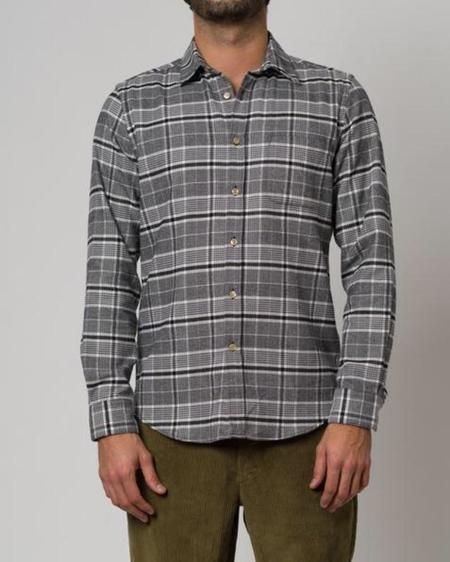 Portuguese Flannel Siberia Shirt - Grey/black/white