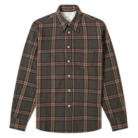 Universal Works Rebel Check Brook Shirt - Taupe