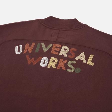 Universal Works Embroidered Carbis Jacket - Raisin Loopback