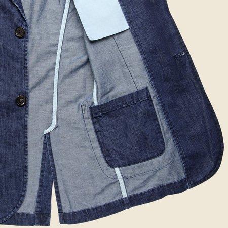 Universal Works Summer Denim Peak Lapel Jacket - Indigo