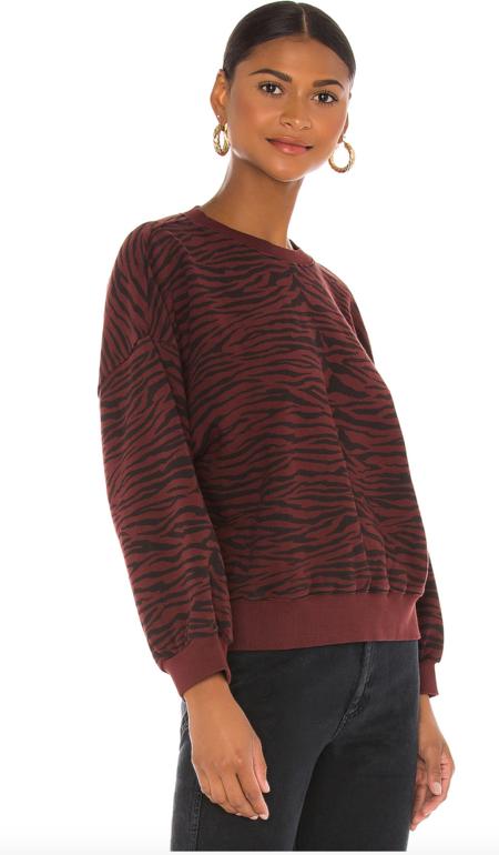 PISTOLA Misha Balloon Sweatshirt - Blk/Cherry/Tiger