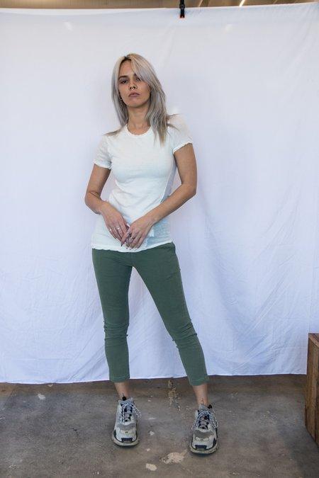 MJ Watson Cotton Cashmere Twisted Seam T-Shirt - White