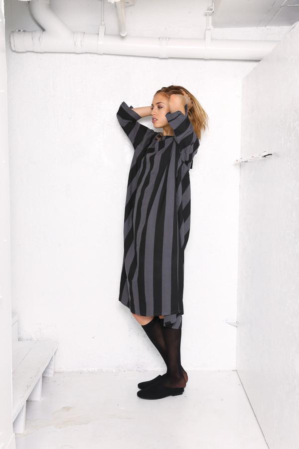 Intentionally Blank JOPLIN dress in Blk/Gry