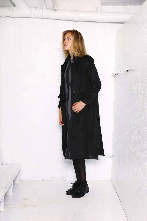 Intentionally Blank LEIF winter car coat in Black