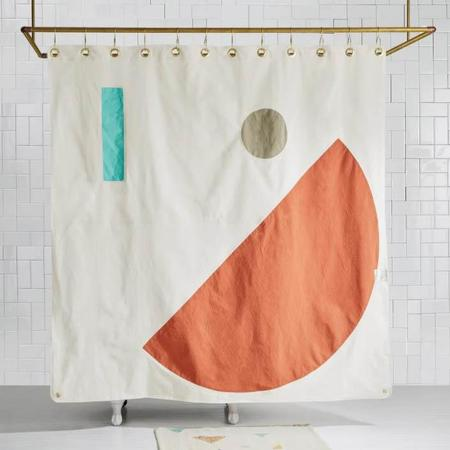 Quiet Town Home Beacon Shower Curtain - Clay
