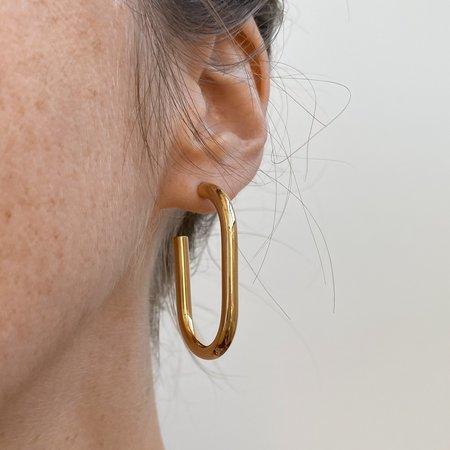 Thatch Athena Hoop Earrings - 14k gold