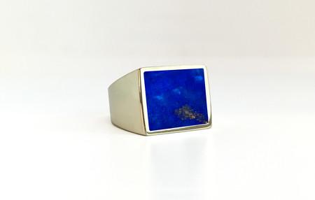 Unisex Legier Lapis Lazuli Stone Signet Ring