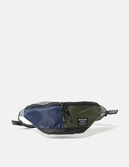 Master-Piece Rush Waist Bag - Navy/Olive/Grey