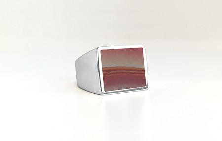 Unisex Legier Wonderstone Stone Signet Ring
