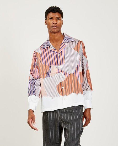 Ne.Sense Vice Cuban Collar Shirt - Tiger Orange