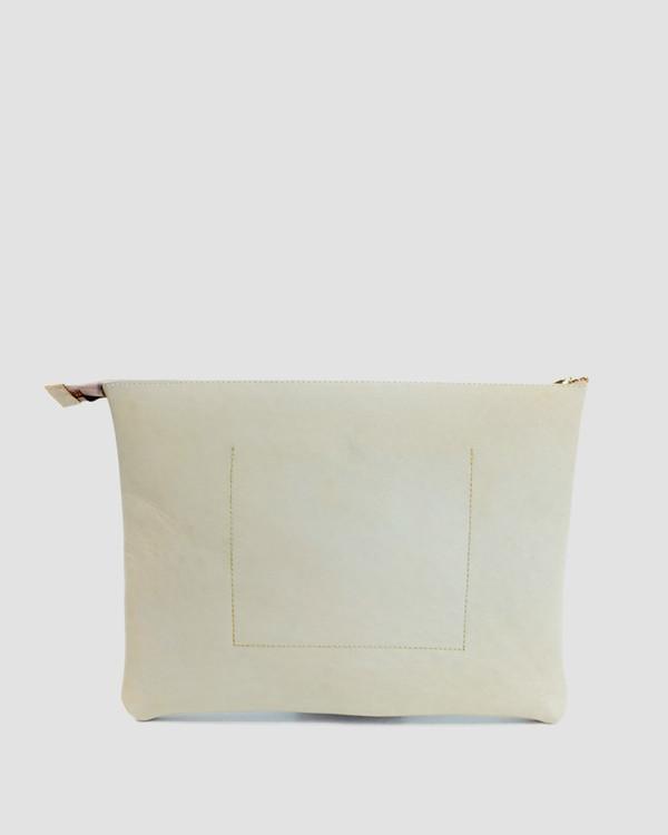 esby leather ESBY PORTFOLIO - BONE