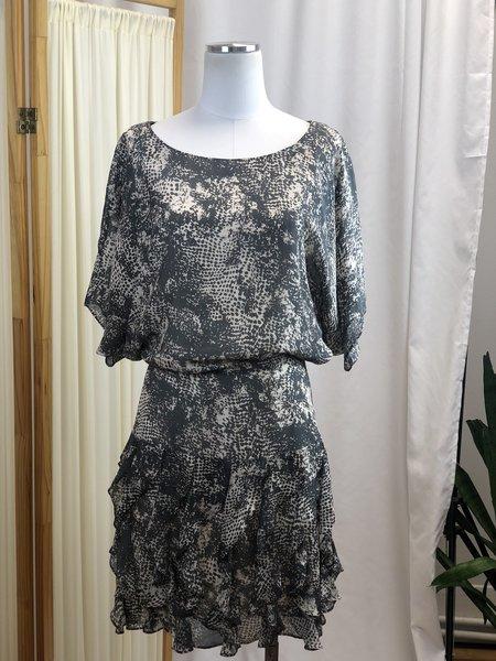 [Pre-loved] Rachel Zoe Snakeprint Mini Dress - Taupe
