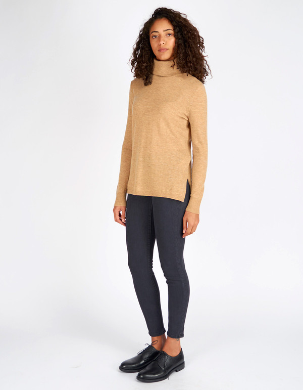 Selected Femme Maia LS Knit Rollneck Tannin