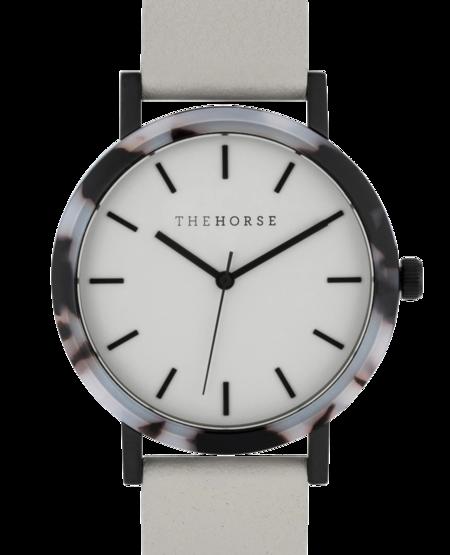 The Horse Resin Blonde Tortoise Watch - Grey