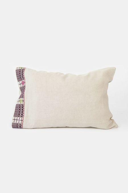Erica Tanov mbroidered linen pillowcase pair - natural
