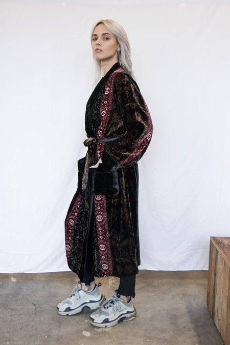 Pierre Louis Mascia Silk Velvet Luxury Robe