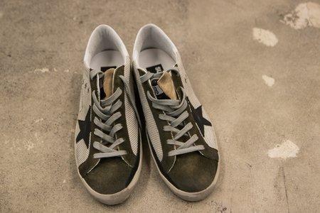Golden Goose Silver Mesh Superstar Sneaker