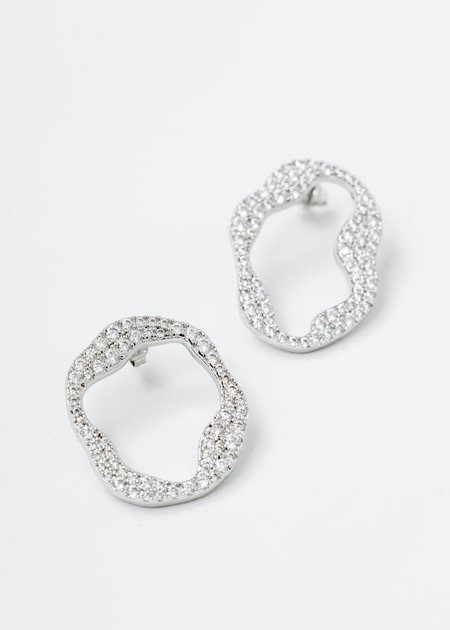 DEPARTMENT White Gold Cell Division B Earring - White Gold