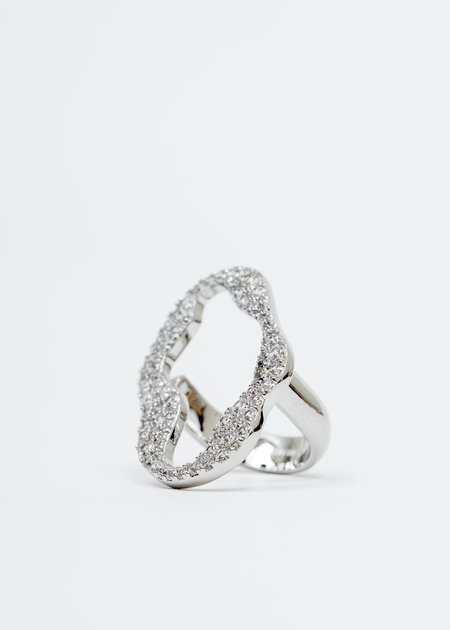 DEPARTMENT White Gold Cell Division Ring - White Gold