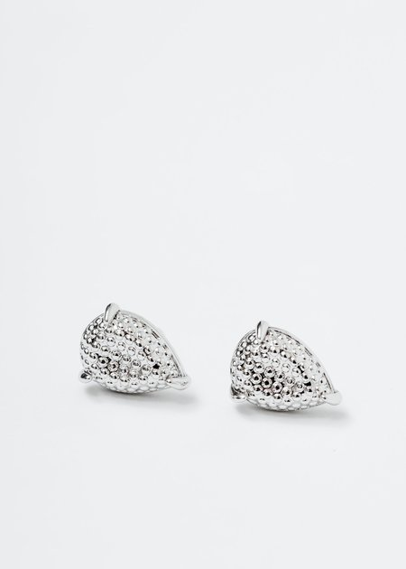DEPARTMENT Water Drop And Chain Earring - White Gold