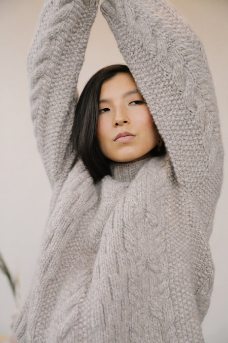 Kordal Finn Cable Knit Sweater - Wheat